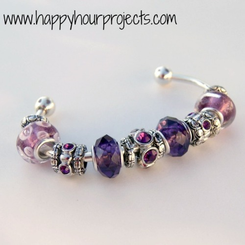 DIY Pandora Bracelet Knockoff Tutorial from Happy Hour Projects here. I was wondering what the price was on the beads Adrianne used so I looked up the Darice Mix and Mingle beads on Amazon and they run about $7 to $7.50 here (no affiliate link) for a package like the one she used. Not a bad price for this knockoff, especially if it's a gift.