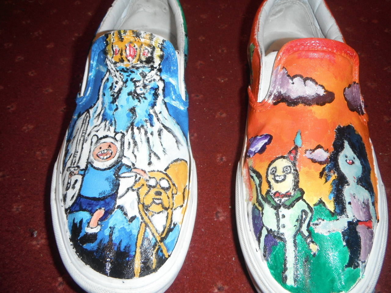 'Adventure Time shoes I painted!' Thanks daniel-95 for these cool kicks.