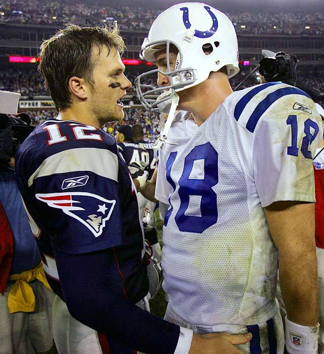 Tom Brady and Peyton Manning face off for the 13th time on Sunday when the Patriots and Broncos square off in Foxboro. New England has won eight of the first 12 games. Can Manning help close the gap? (AP) GALLERY: The Brady-Manning RivalryKING: Week 5 picks | Fantasy Projections