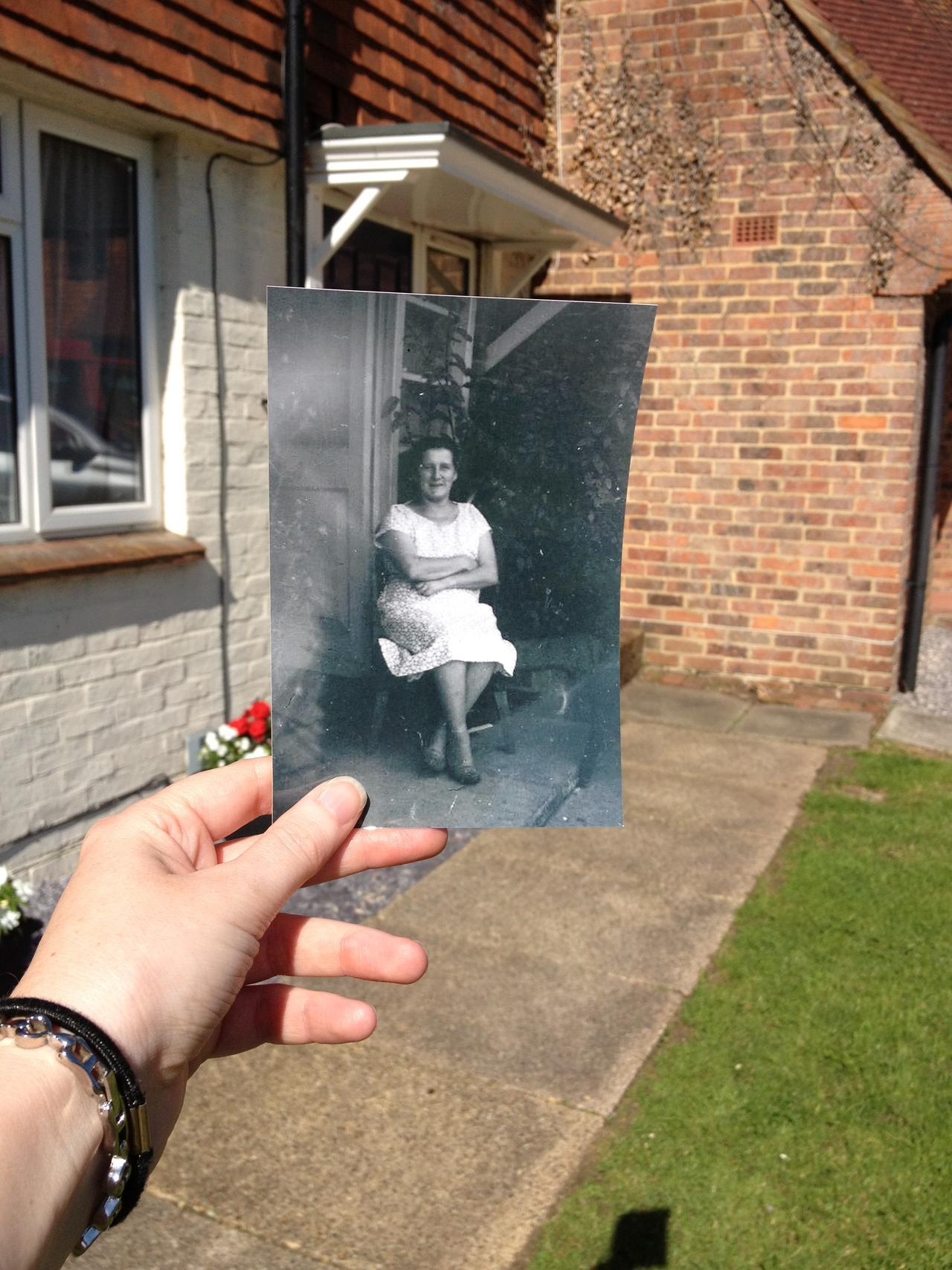 Dear Photograph, This was her home for over fifty years and now the time has come when she won't be coming home anymore. New people may live there now but to me this will forever and always be Nan's house. Love &miss you Nan, Penny