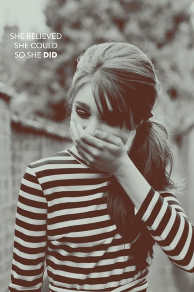 sequins-stripes:  She believed she could so she did.