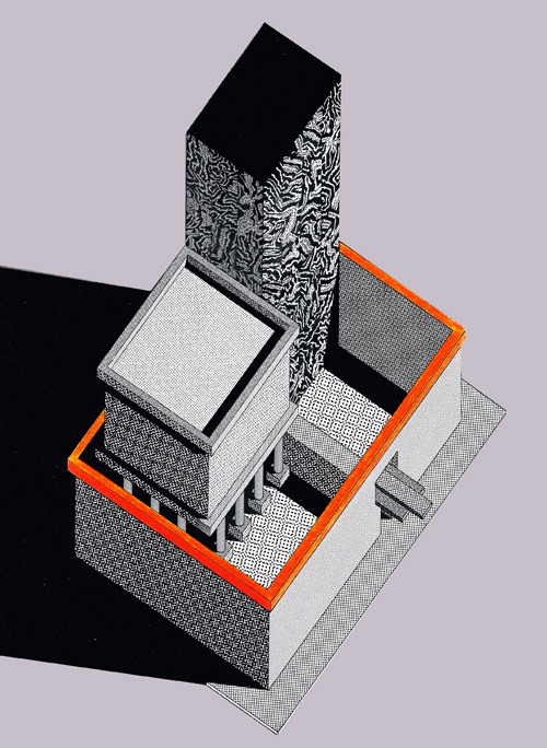 aqqindex:  Ettore Sottsass, Design for a Building, 1983