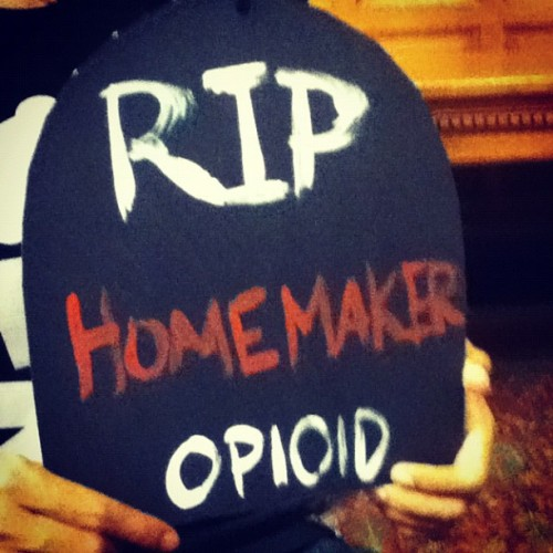 Making a difference to our community . #opiod #awareness #month #october #rip #stopit #lowell #cityhall (Taken with Instagram)