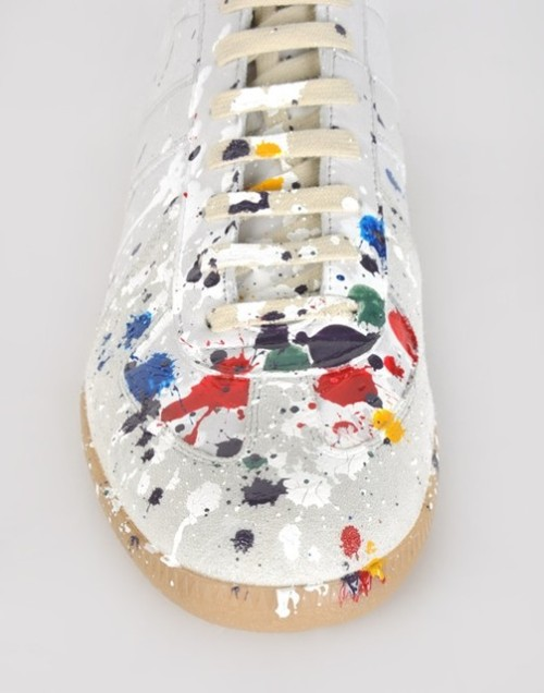 Painted sneakers by Maison Martin Margiela via AnOther magazine