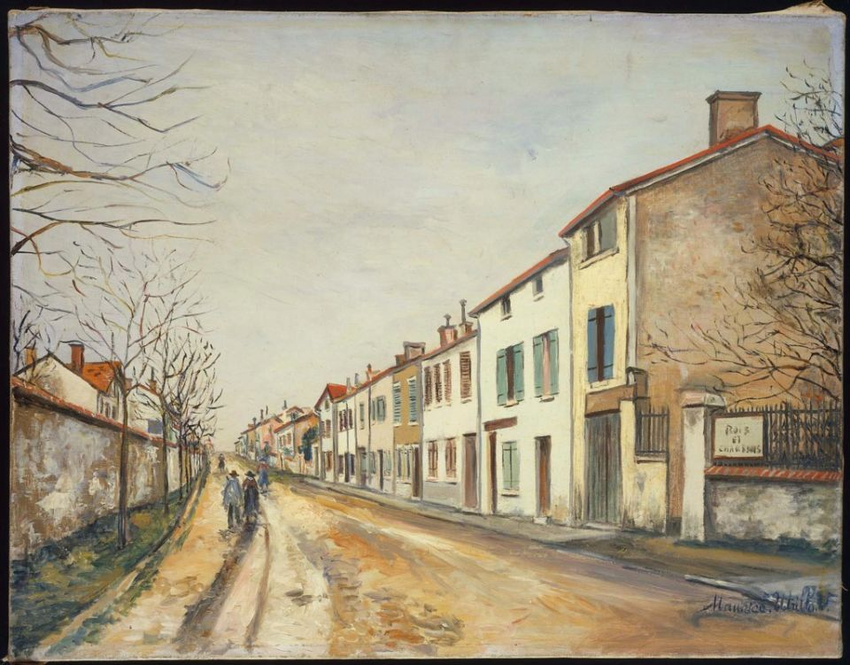cavetocanvas:  Maurice Utrillo, Suburban Street Scene, n.d.  What music is playing on this street?