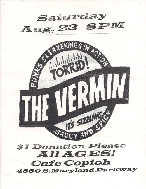 the Vermin @ Cafe Copioh