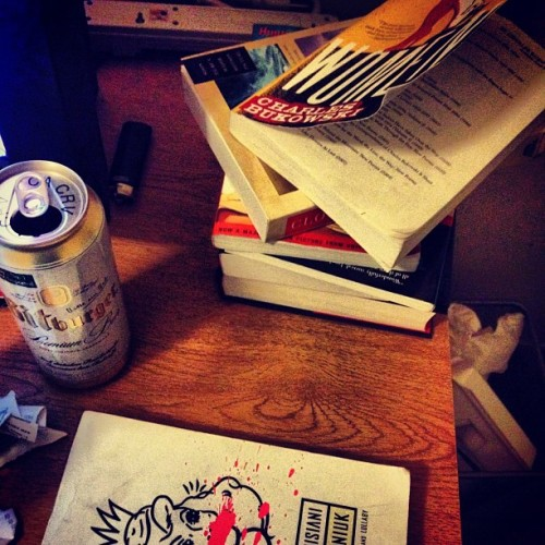 hallowsoulremix:  Keeping myself busy this weekend. #reading #writing #drinking #rememberhemmingway (Taken with Instagram)