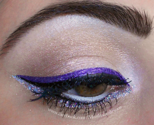 Purple and glitter winged eye by Angela J.!