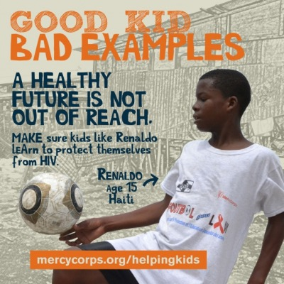 Learn how Mercy Corps is using soccer to teach kids in Haiti how to protect themselves from HIV.
