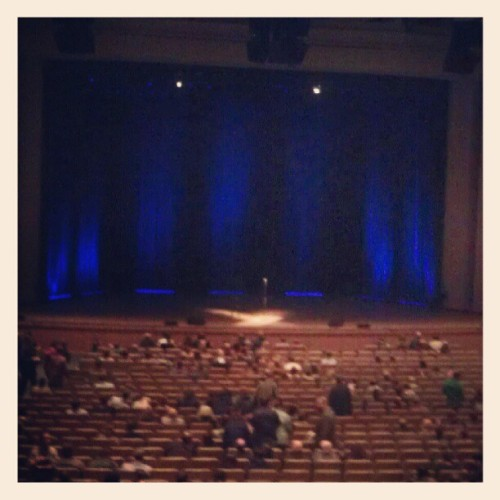 Louis C.K. is here! And I am in the audience! And I'm so happy I don't even mind that the girl next to me is eating dried mangoes and belching! (Taken with Instagram)