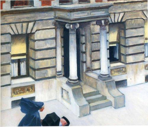 Edward Hopper, New York Pavements, 1924.