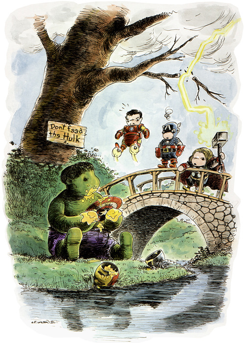 Don't feed the Hulk! — by Charles Paul Wilson III