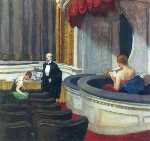 Edward Hopper, Two on the Aisle, 1927.