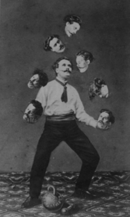 "p-essimist:  ""Man Juggling His Own Head"", 1880."