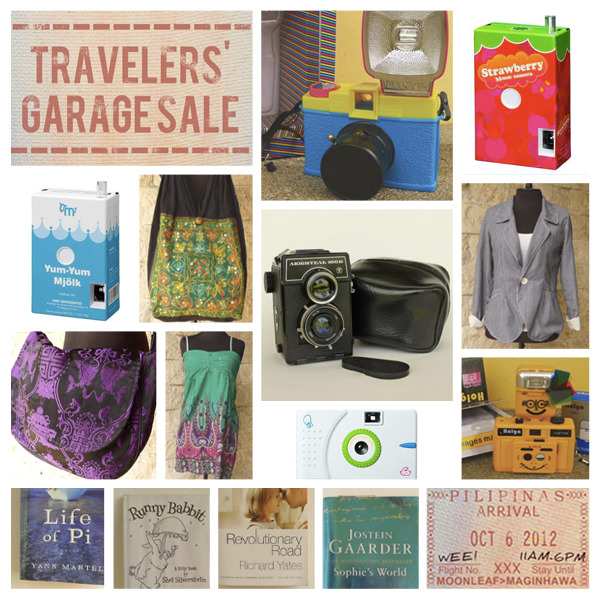Just some of the stuff I'll be selling at the Travelers' Garage Sale on Oct. 6 (SAT) at Moonleaf Maginhawa! :) I'll also be selling Punchdrunk Panda camera straps, including some that I designed myself. See below for pictures!! [[MORE]]   Might also be doing a trunk show for my latest camera strap design inspired by none other than TRAVEL! :D*Hint: see my Facebook cover photo or my Twitter background. Click here to declare your attendance. :)Click here to get a Moonleaf drink of your choice + P250 of garage sale credit!View the rest of this album for some of the other stuff up for grabs. Looking forward to seeing you there!! Say hello! :D Weee!!-ing,Jen Follow my tweets • Find me on Facebook • Sign up for my newsletter • E-mail me