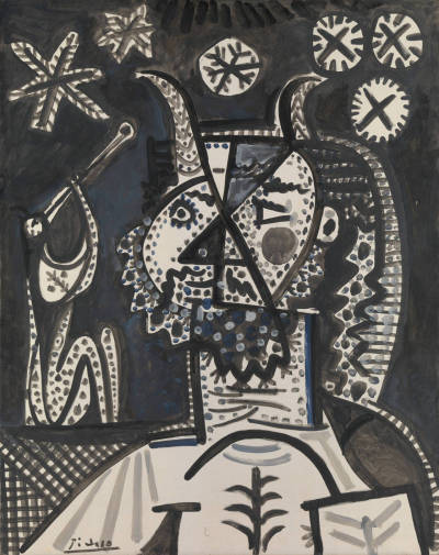 drawpaintprint:  Pablo Picasso: Faun with Stars (1955) Metropolitan Museum of Art
