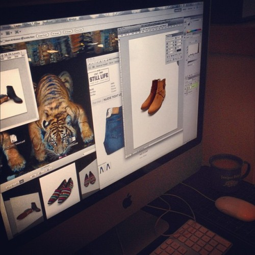 stilllifecreative:  Behind the scenes of another #FW12 #webstore update! I spy footwear from #8020, #Ganni and some nice new #NudieJeans. Shop at stilllifeboutique.com (Taken with Instagram)