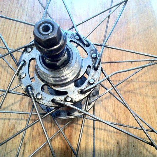 #bent #spokes #nofilter #fixed #gear #cog #throb #bicycle #hub #bike #bolts #hard #steel #nuts #grime #filth #mess #done (Taken with Instagram at Pagolac)