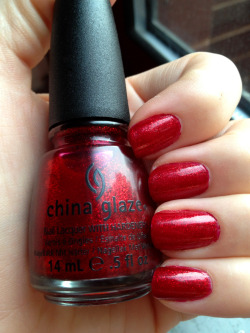 "goodmorningdoll:  China Glaze ""Ruby Pumps"" I rarely wear red nails but I am so in love with this polish."