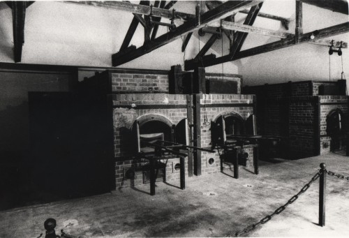 Crematorium, Dachau Concentration Camp, Germany.