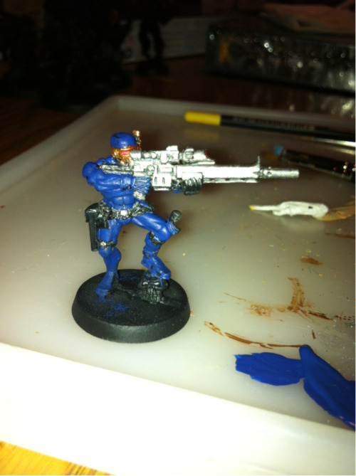 My Vindicare I'm working on somehow ended up as Cyclops. What?