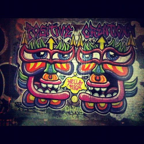 @chris_dyer #montreal #graffiti #ruestlaurent #hello #high (Taken with Instagram)
