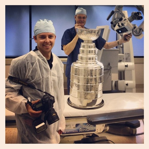 Early trip to the OR with my buddy Stanley. (Taken with Instagram)