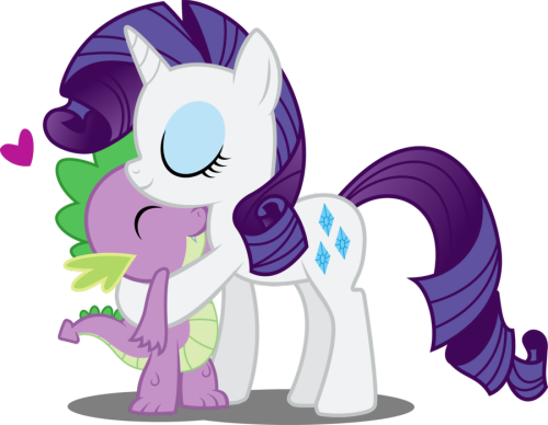 dramaticrarity:  Spike and Rarity by ~Abion47