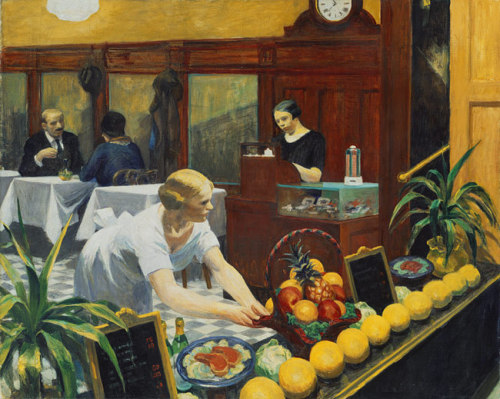 Edward Hopper, Tables for Ladies, 1930.