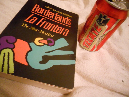 Yo Soy Chicana. TRU. This book speaks to me so deep. The beer, who needs it. There is la raza in my veins. El veinos. I'm drunk but who cares; read this. Please.