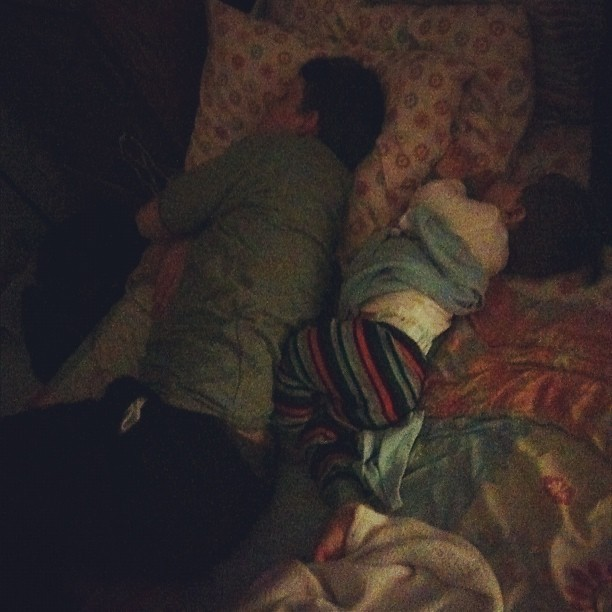 Absolutely adorable. #sleeping #daddy #son #snuggle #exhausted #family (Taken with Instagram)