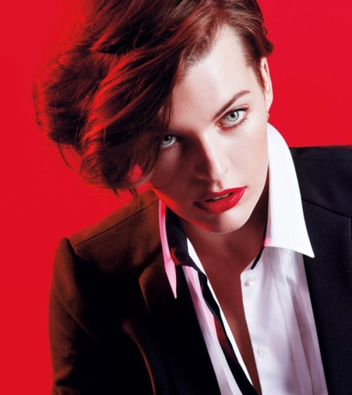 Milla Jovovich photographed by Inez and Vinoodh for Marella Fall 2012