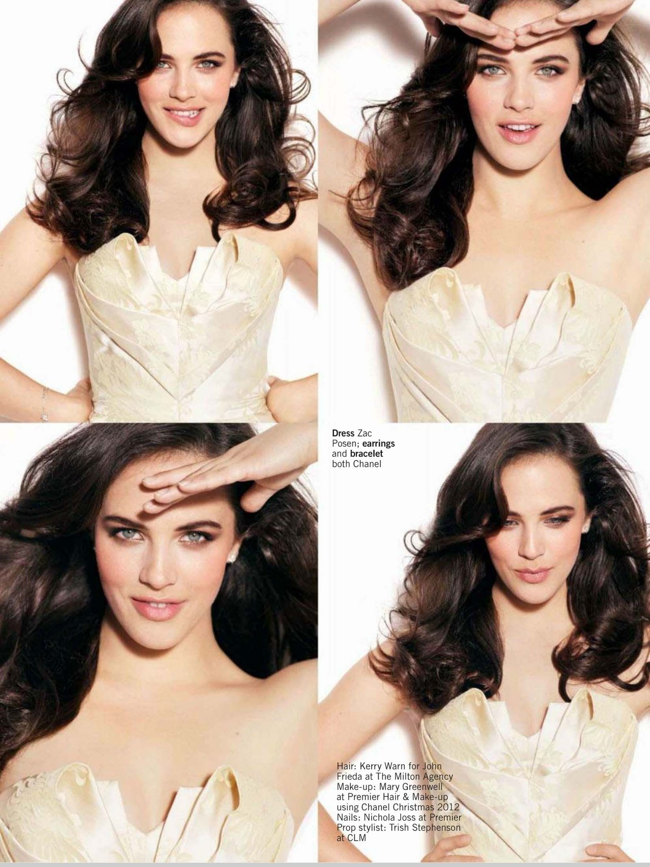 bohemea:  Jessica Brown Findlay - Glamour UK by Walter Chin, November 2012