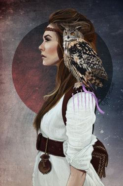 just-art:  Lady Owl by Emmanuel Pondevie