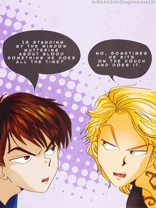 Simon and Jace, City of Ashes. Hee! celestial-delinquent:  (credit)