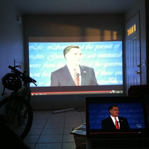 Eye twitch. #daylatedebate #debate2012 (Taken with Instagram)