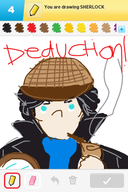 "drawsomesherlock:  ""Sherlock""  sherlock is a word!! epic"