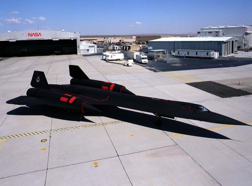 SR-71 Blackbird On The Ramp