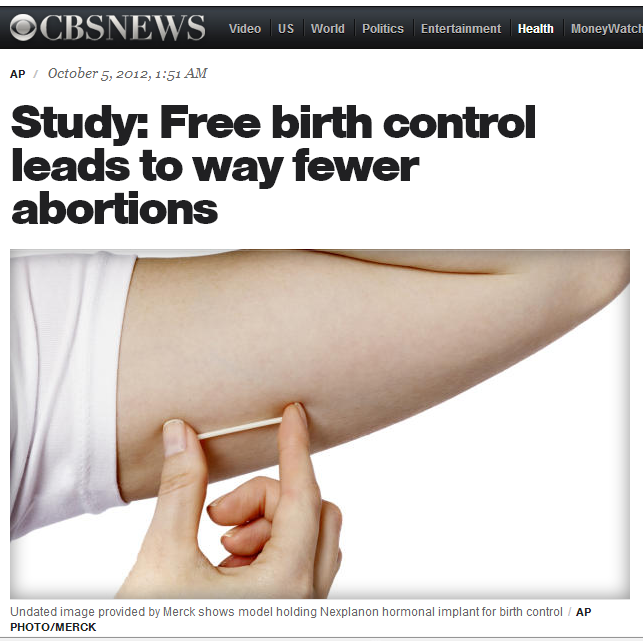sexartandpolitics:  Study: Free birth control leads to way fewer abortions - CBS News Way fewer.
