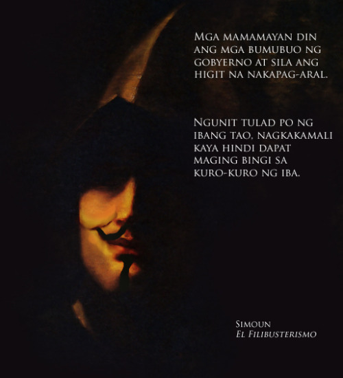mentisflatus:  Protest Art: Simoun of El Filibusterismo + Guy Fawkes: NO to Cybercrime Prevention Act of 2012 (Remix of Un Guerrero by Felix Resurreccion Hidalgo and V for Vendetta's Guy Fawkes) Lopez Museum and Library on Facebook: http://on.fb.me/Qyj7vK
