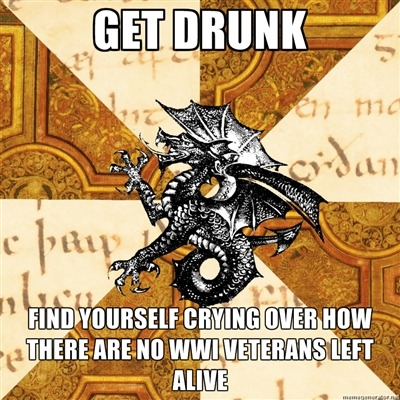 fyeahhistorymajorheraldicbeast:  This is what happens when you're drunk and maudlin and realise that pretty soon there will be nobody left alive who has memories of the 1910s. No tumblr, sorry.