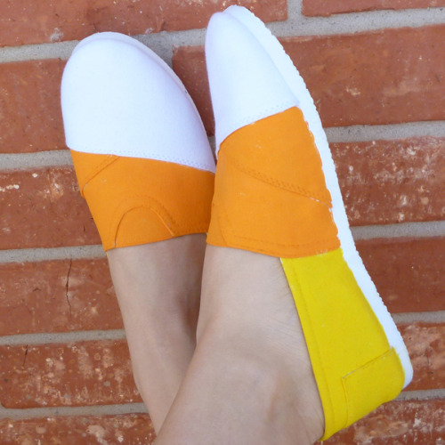 DIY candy corn shoes from Dream A Little Bigger.