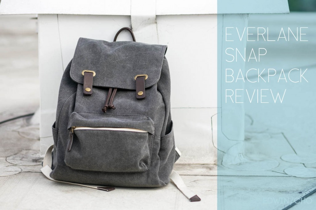 "Everlane Snap Backpack Review [over at edwincho.com] Not really from just today, but ""art directed"" & edited the post over the last few. Everlane - I hope you're reading this, cause you make me excited with each product launch and just plain do great work.  Photo credit to Edwin, model credit to Tong! learning that collaboration = fun, Day 3."