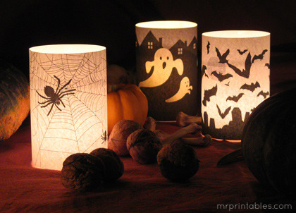 Spooky Halloween Candle Wrappers free printables from Mr. Printables.