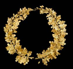 fourteenth:  Wreath of oak leaves and acorns Greek, Late Classical or Early Hellenistic Period, 4th century B.C.