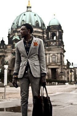 streetetiquette:  Miss Berlin..! emrayfo:  Joshua Kissi of Street Etiquette on his visit to Berlin.