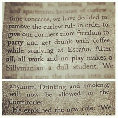 funny article from #TheWeeklySillimanian (Taken with Instagram at Silliman University)