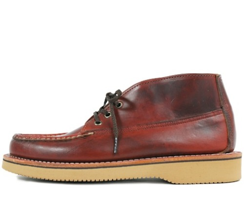 "I really think Russell Moccasin makes some of the best moccasins in the world, but unlike with Yuketen, where the curatory process is mainly down to Yuki, here it's the curatory capabilities of the particular retailer that determines the outcome. It can go horribly wrong (not naming names, he he he), absolutely fantastically right (like when I did a shoe with them), or ""pretty good"", like in this case.  Japanese retailer Doo-Bop has taken stock of this Russell Moccasin chukka, a sleek interpretation of rugged casualness with its Chromexcel Upper on a Vibram 2020 foundation just right for The Fall. Doo-Bop ships internationally, but I made sure to hold back this entry until they've sold out of all the bigger sizes, just to make sure nobody else in the Western hemisphere can get them. I mean how embarrassing is it to roll into Pity and see some of you cats sporting the same shoes as yourself. Fucking embarrassing, that's how."