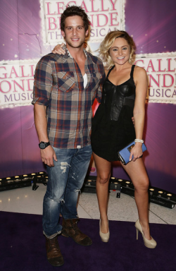 LEGALLY BLONDE: THE MUSICAL OPENING - DAN EWING & MARNI LITTLE We all loved the super sweet antics of Reese Witherspoon in the Hollywood blockbuster, and now the hilariously entertaining antics of Elle Woods are being brought to the stage. Featuring some of Australia's leading musical theatre stars including Lucy Durack and Rob Mills, 'Legally Blonde: The Musical' opened in Sydney last night! Some of Australias hottest media personalities attended the Gala Premiere and here are the hottest shots for YOUR viewing pleasure!Image Source: Zimbio
