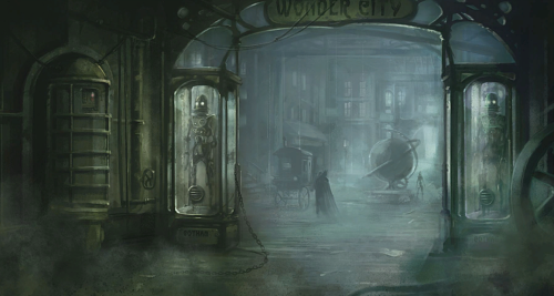 torontobatman:  Arkham City concept art - Wonder City